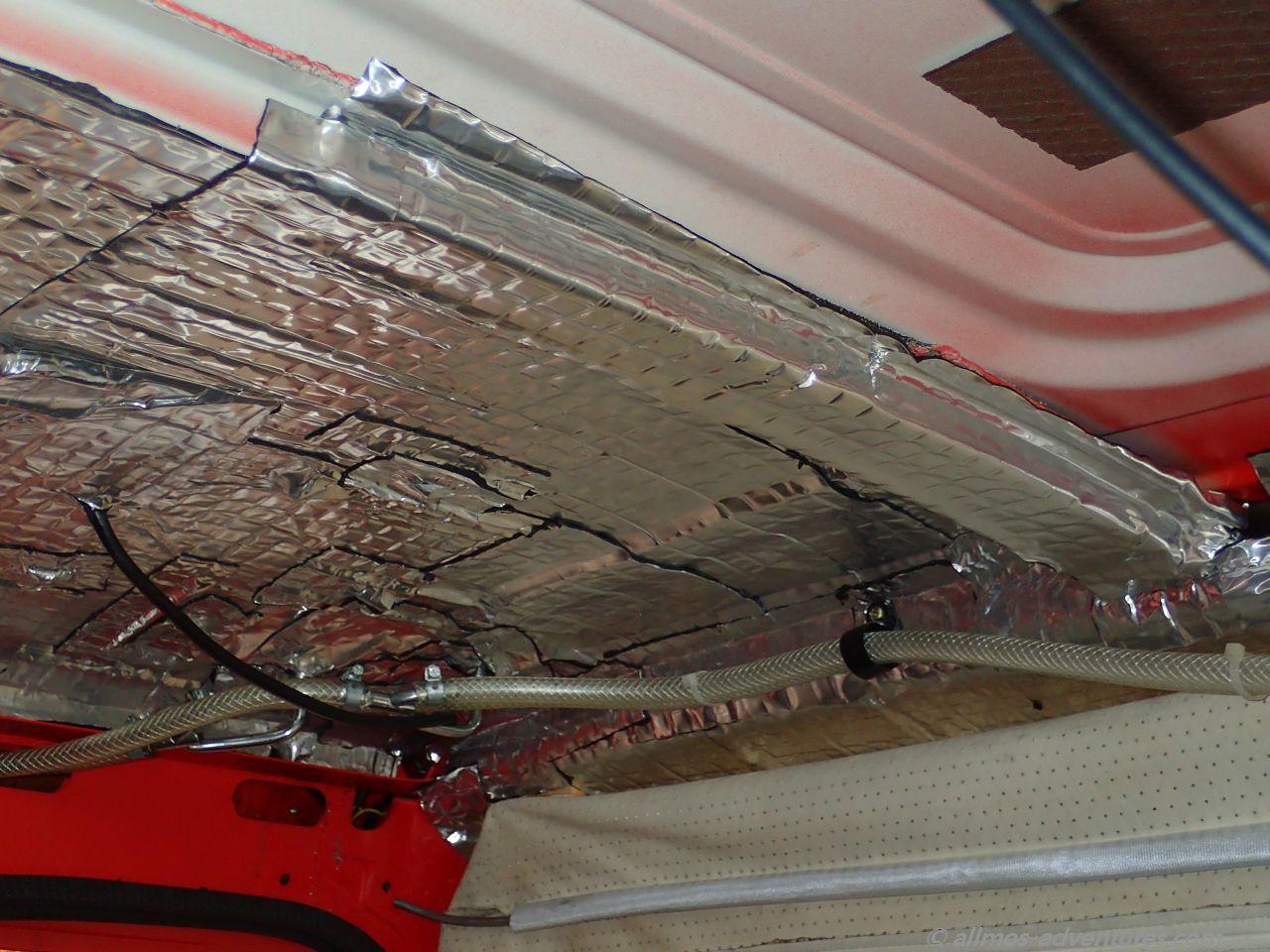 Alubutylen zur Dämmung des Dachs der Doka