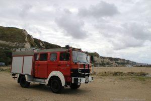 Allmo am Strand von Saint-Jouin-Bruneval