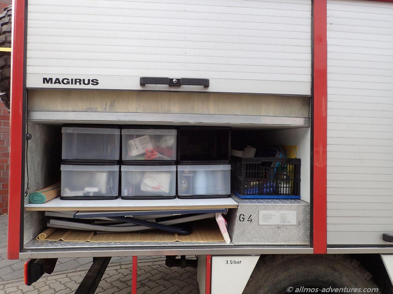 Stauboxen für Küchenutensilien