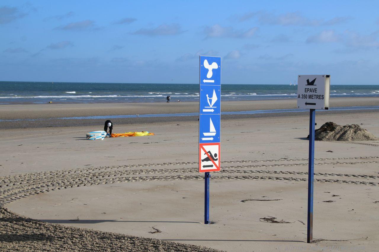 am Strand von Malo-Les-Bains