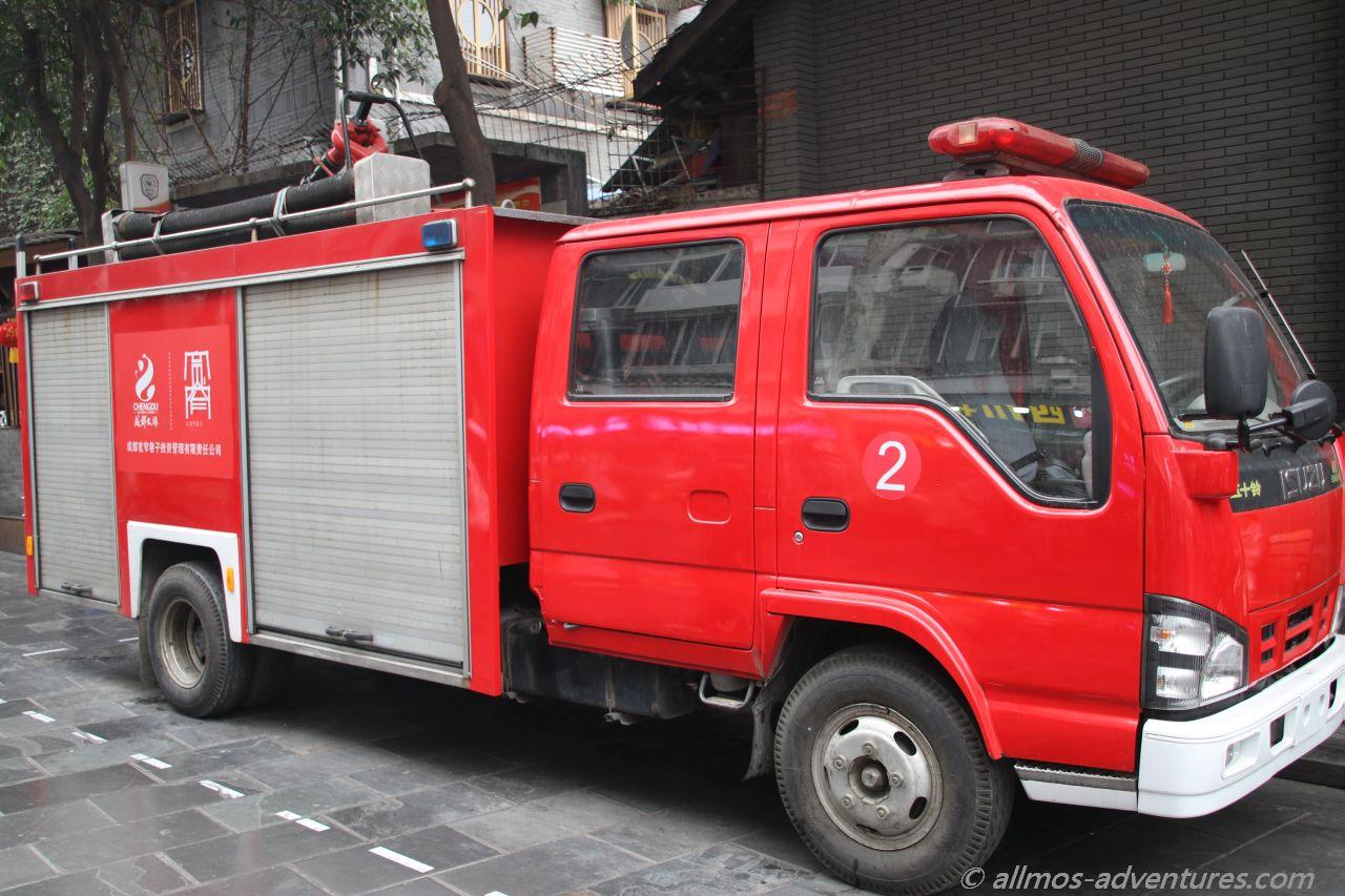 2019 China: Feuerwehrauto in Chengdu