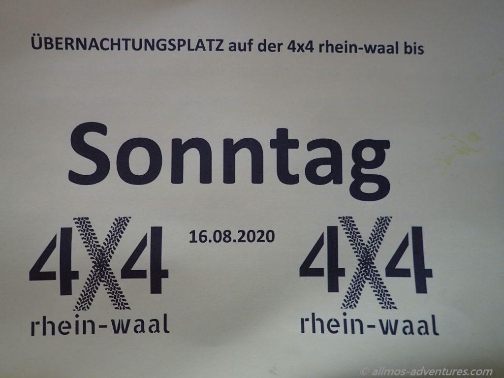 2020: 4x4 Rhein-Waal in Kalkar
